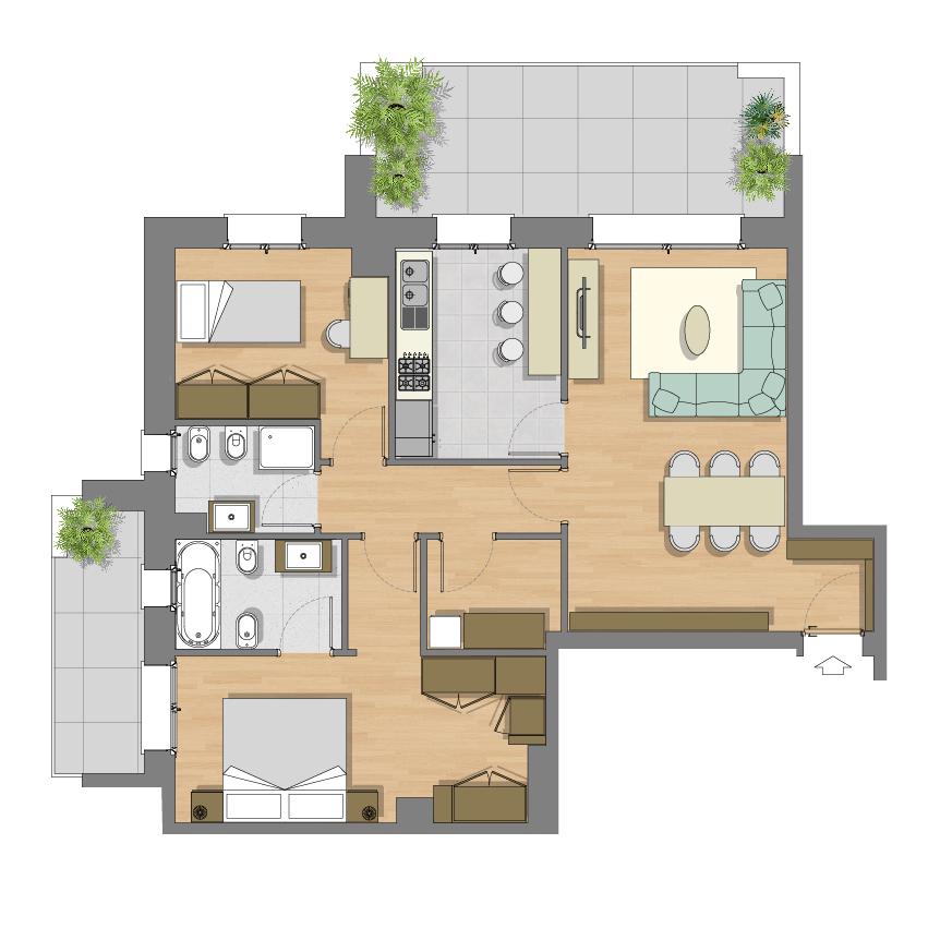 Residenza vista verde